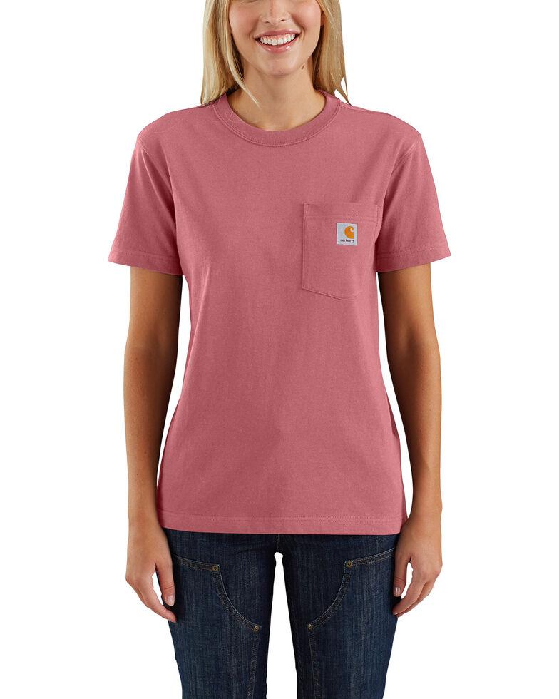 Carhartt Women's Workwear Pocket T-Shirt, Dark Red, hi-res