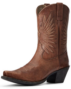 Ariat Women's Goldie Western Boots - Snip Toe, Brown, hi-res