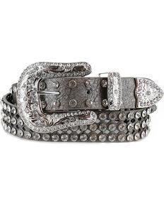 Shyanne Women's Rhinestone Filigree Belt, Silver, hi-res