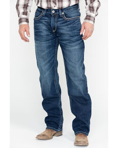 Ariat Men's M3 Ford Truckee Dark Wash Jeans - Big , Blue, hi-res