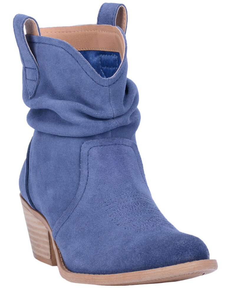 Dingo Women's Blue Jackpot Western Booties - Round Toe, Blue, hi-res