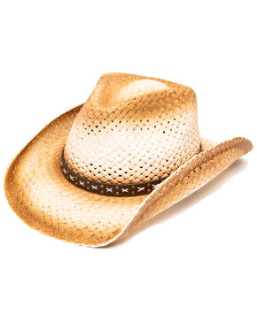 Cody James Men's Dust Straw Hat, Natural, hi-res