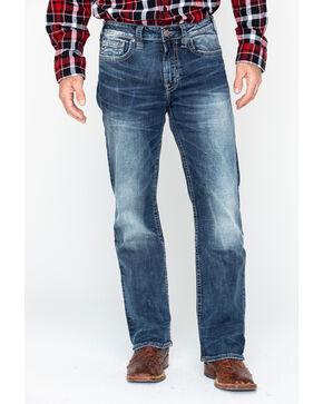 Silver Jeans Men's Craig Medium Wash Jeans, Indigo, hi-res