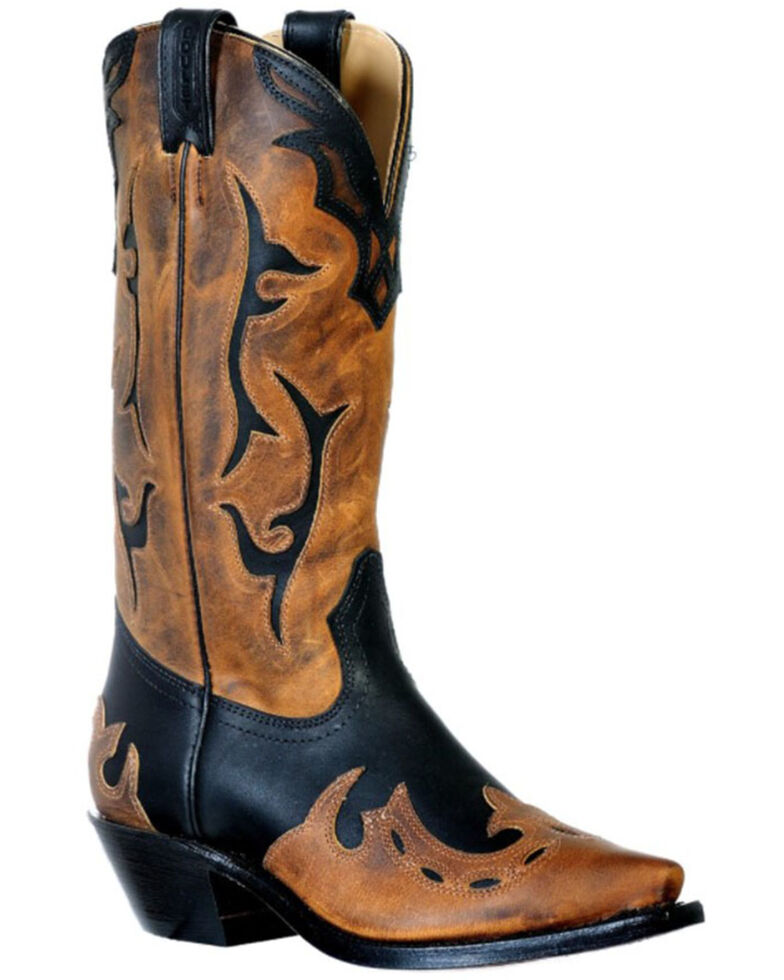 Boulet Women's HillBilly Golden Western Boots - Snip Toe, Black, hi-res