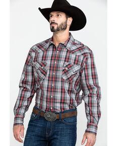 Cinch Men's Modern Multi Plaid Snap Long Sleeve Western Shirt , Purple, hi-res