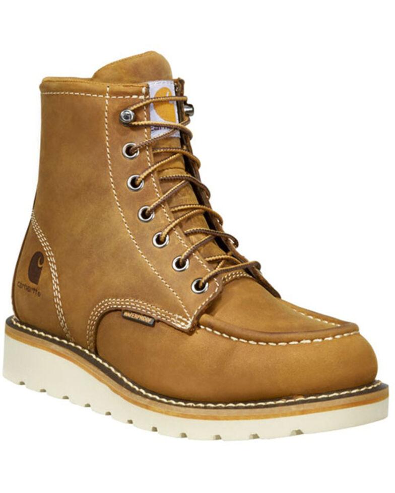 Carhartt Women's Brown Flat Sole Waterproof Work Boots - Soft Toe, Dark Brown, hi-res