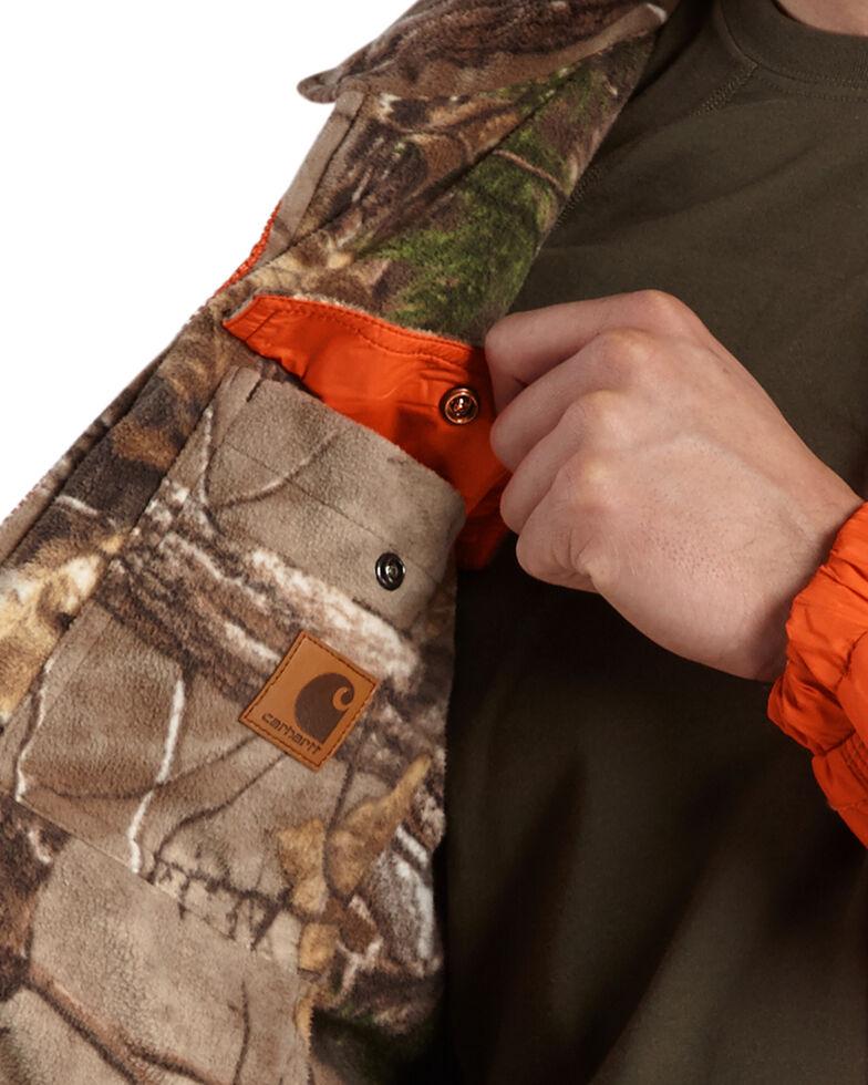 Carhartt Men's Woodsville Reversible Camo Jacket, Orange, hi-res