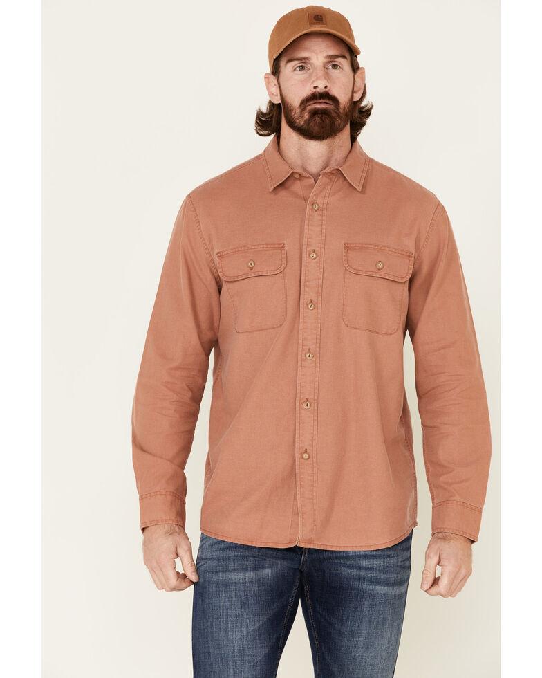 Pendleton Men's Rust Beach Shack Solid Long Sleeve Western Shirt , Rust Copper, hi-res