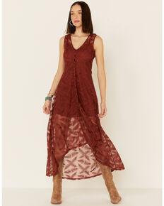Shyanne Women's Lace Maxi Dress, Rust Copper, hi-res