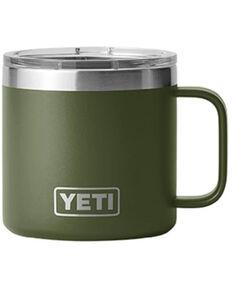 Yeti Rambler Olive 14oz Mug, Olive, hi-res