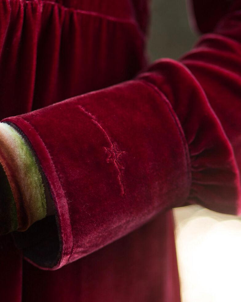 Ryan Michael Women's Red Velvet Tunic Dress , Red, hi-res