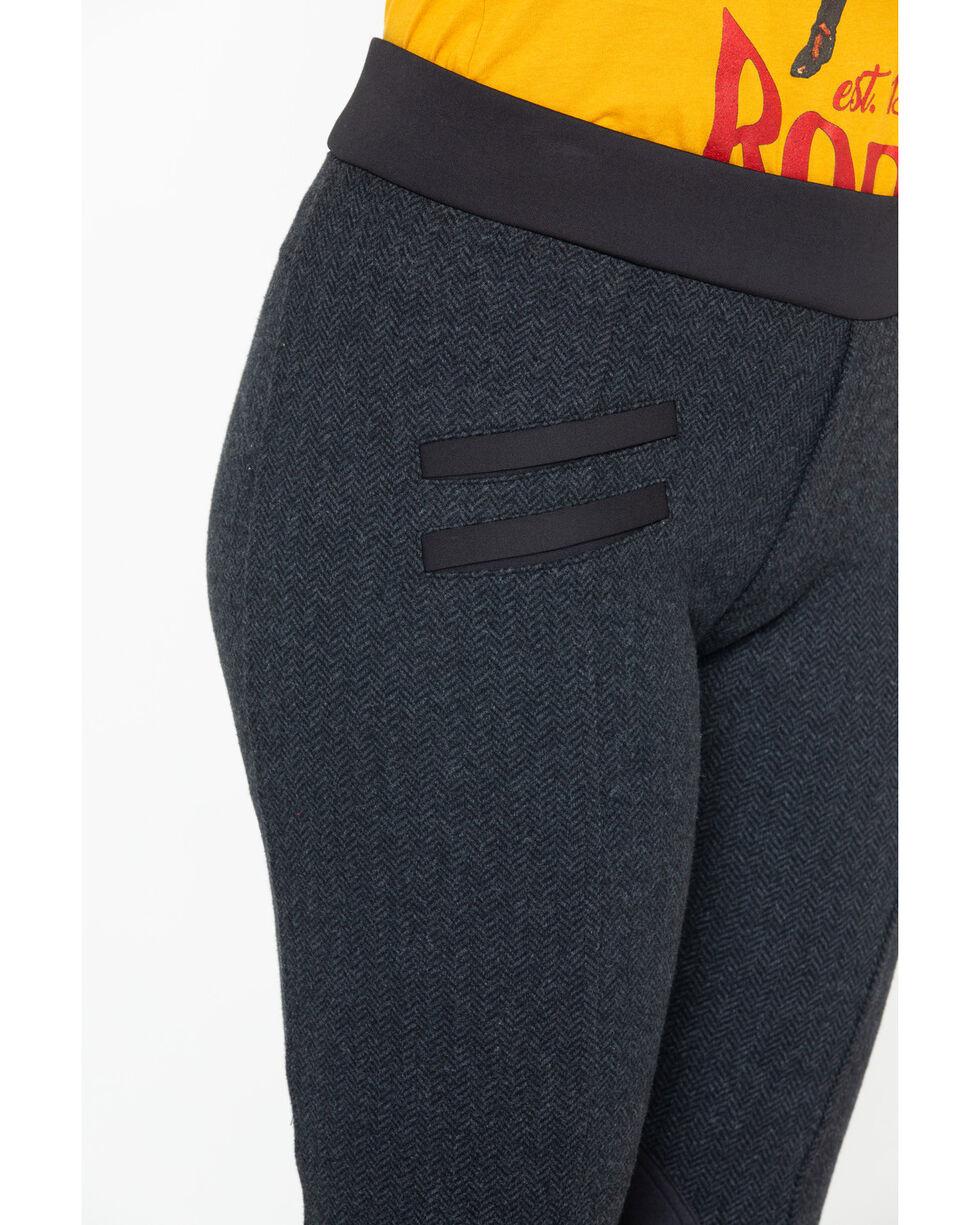 Tasha Polizzi Women's Herringbone Equestrian Pants  , Black, hi-res