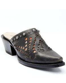 Dan Post Women's Black Inlay Mules - Snip Toe, Black, hi-res