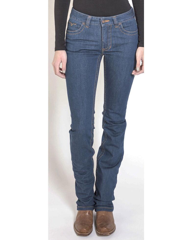 Kimes Ranch Women's Betty 17 Modest Boot Cut Jeans, Indigo, hi-res
