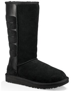UGG Women's Black Classic Tall UGG Rubber Boots , Black, hi-res