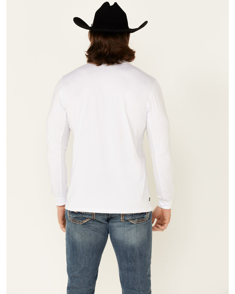 Kimes Ranch Men's White KR2 Performance Logo Long Sleeve T-Shirt , White, hi-res