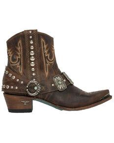 Lane Women's Silver Mesa Fashion Booties - Snip Toe, Cognac, hi-res