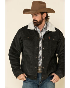Cinch Men's Charcoal Printed Bonded Sherpa Jacket , Charcoal, hi-res