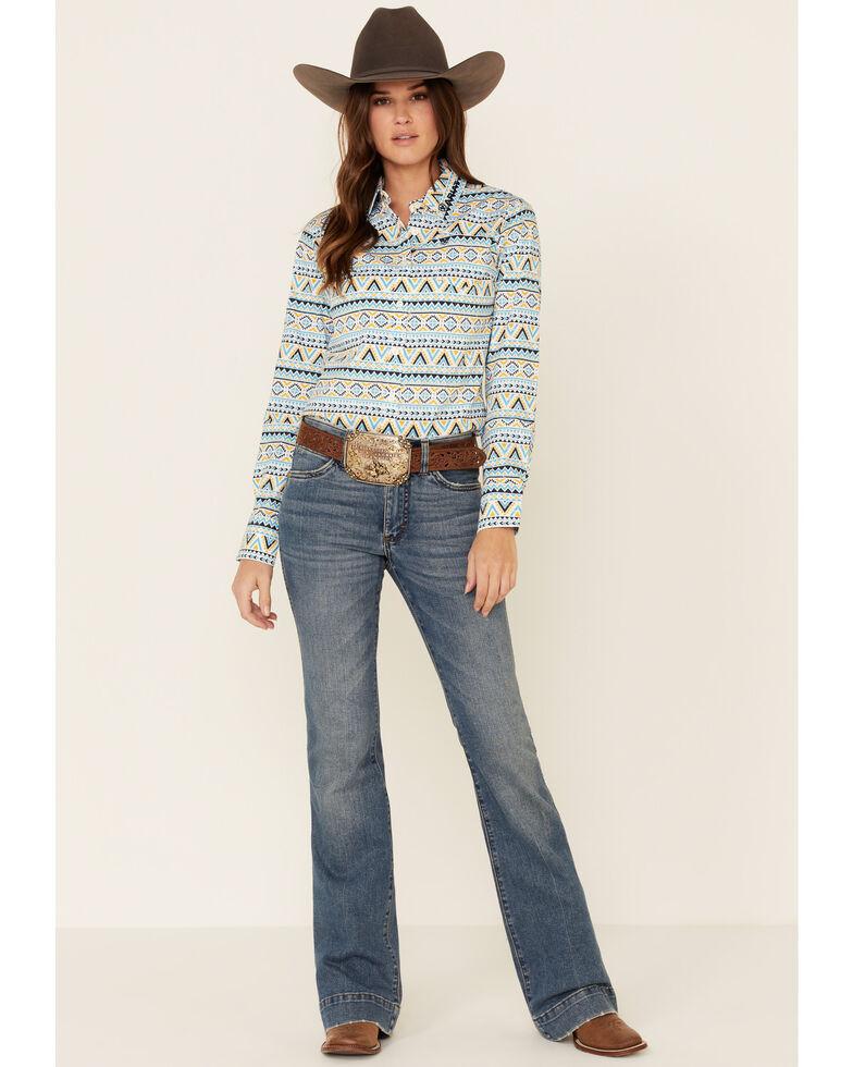 Ariat Women's Multi Aztec Print Team Kirby Long Sleeve Western Core Shirt , Multi, hi-res