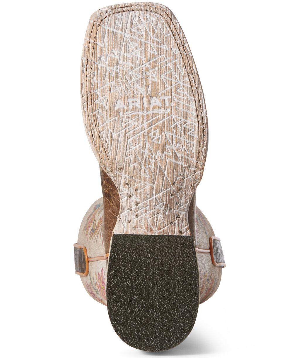 Ariat Women's Circuit Savanna Floral Western Boots - Square Toe, Tan, hi-res