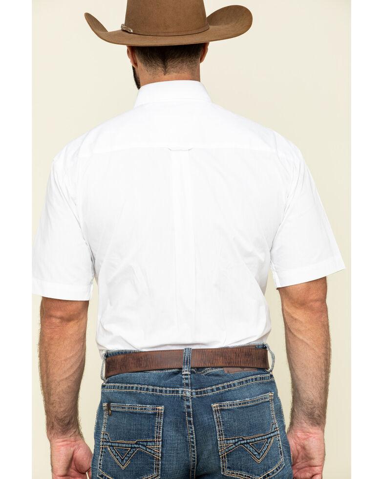 Roper Amarillo Collection Short Sleeve Men's Shirt, White, hi-res