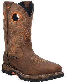 Dan Post Men's Storms Eye Waterproof Western Work Boots - Broad Square Toe, Brown, hi-res