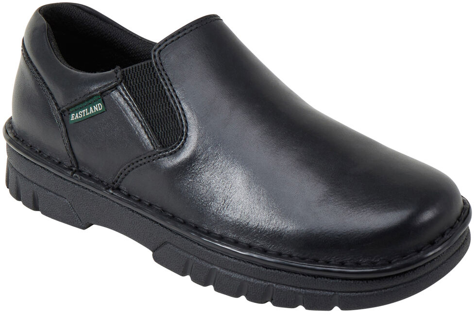Eastland Men's Black Newport Slip On Shoes, Black, hi-res