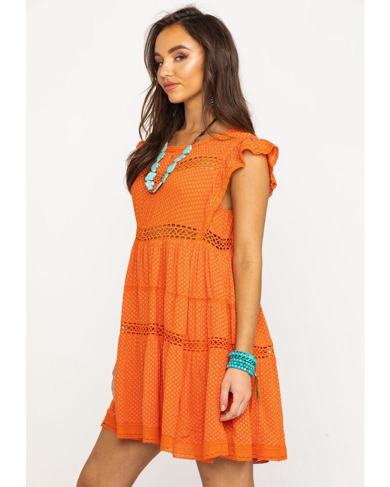 4ace2ea1408a Zoomed Image Free People Women's Retro Kitty Dress, Orange, hi-res