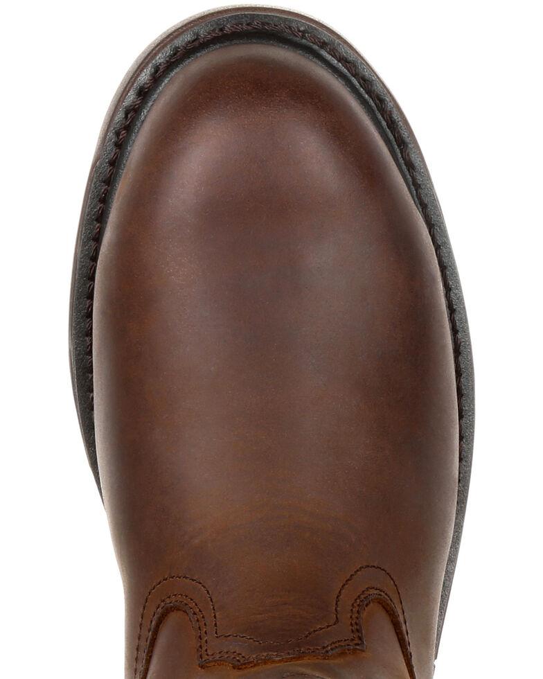 Rocky Men's Iron Skull Waterproof Western Boots - Composite Toe, Dark Brown, hi-res