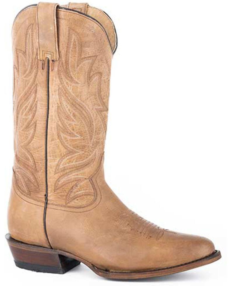 Roper Men's Parker Western Boots - Round Toe, Tan, hi-res