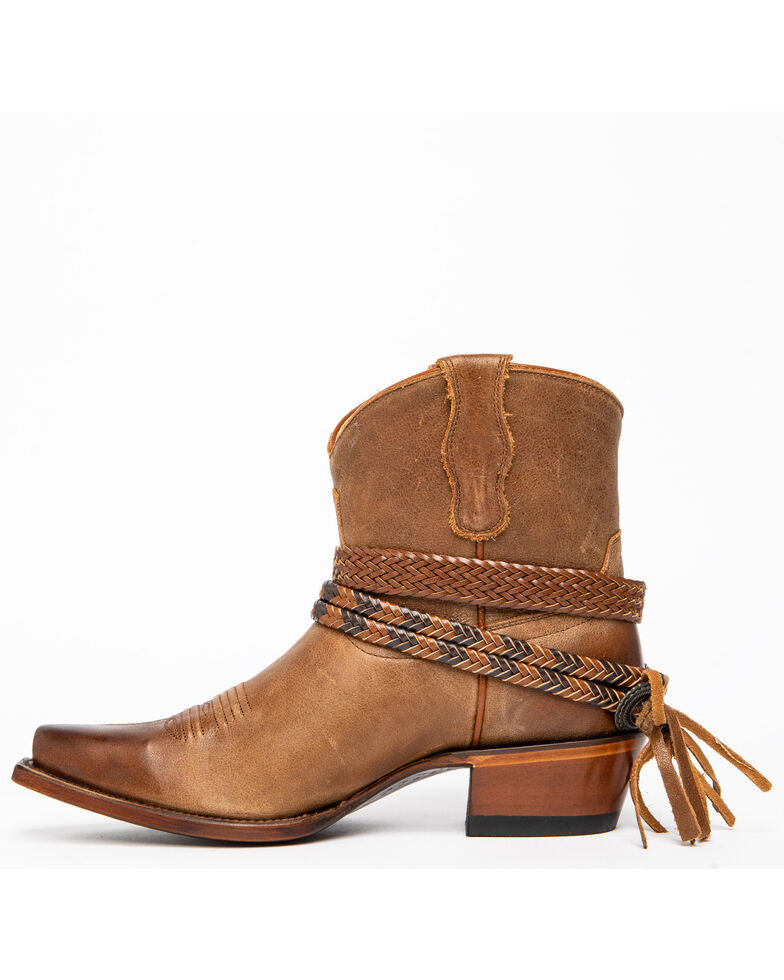 Shyanne Women's Trailblazer Fashion Booties - Snip Toe, Brown, hi-res