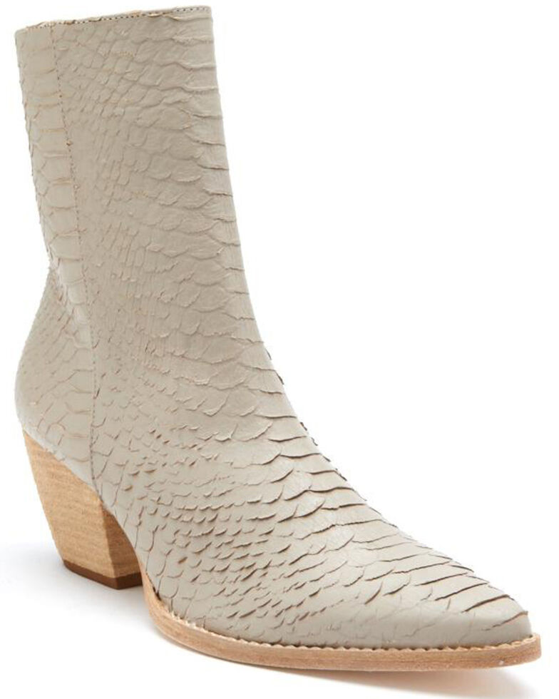 Matisse Women's Caty Ivory Snake Fashion Booties - Pointed Toe, Ivory, hi-res