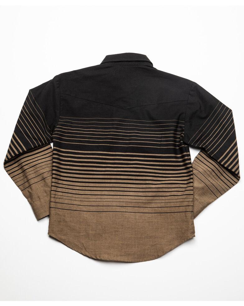 Roper Boys' Multi Border Stripe Long Sleeve Western Shirt , Black, hi-res