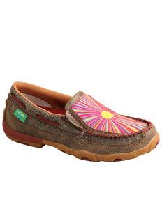 Twisted X Women's Sunburst Eco Slip-On Shoes - Moc Toe, Brown, hi-res