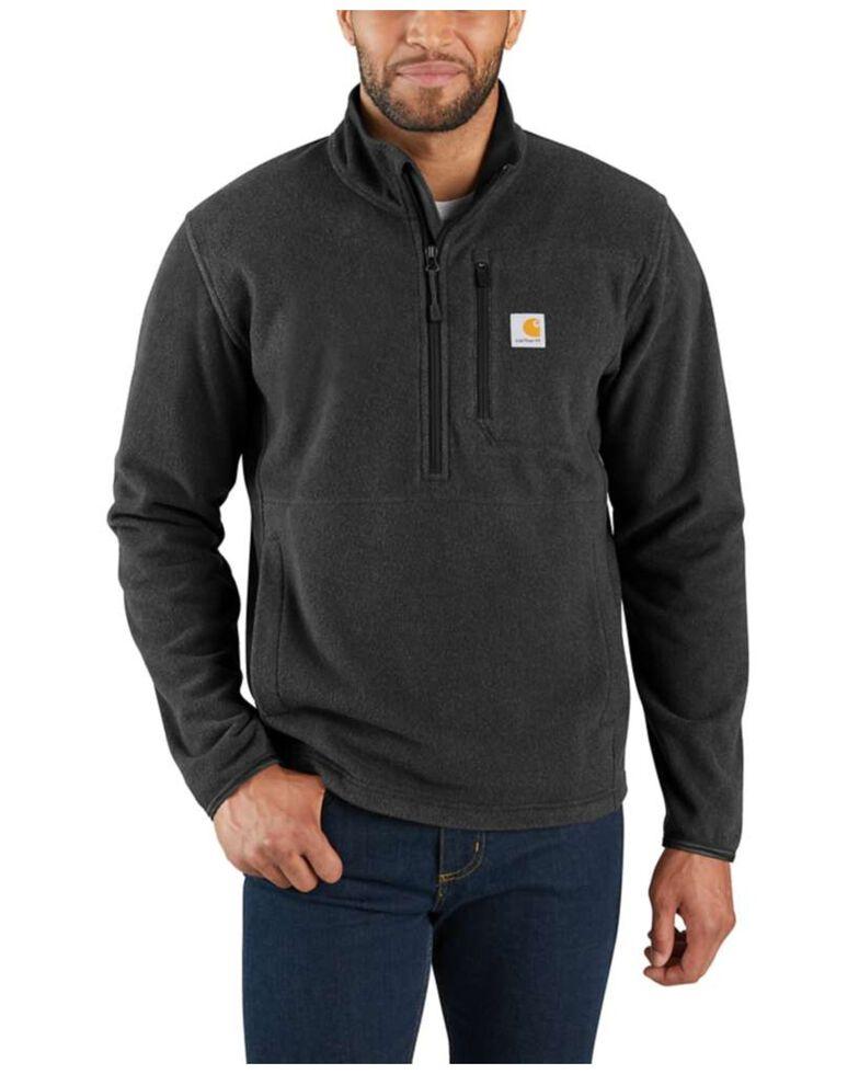 Carhartt Men's Dalton Half-Zip Fleece Pullover , Black, hi-res