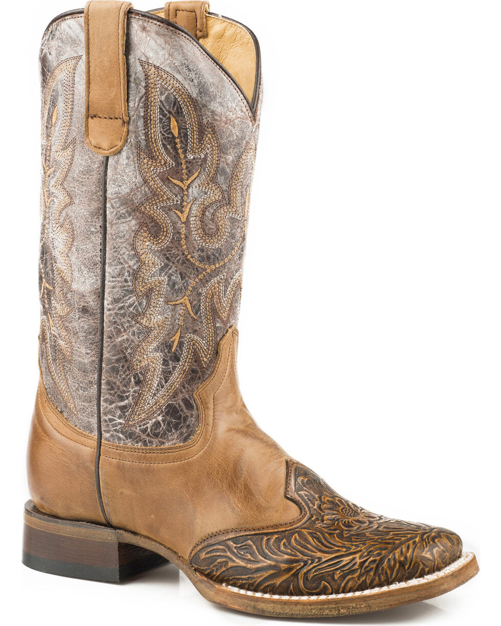 Roper Women's Brown Steppin' Out Boots - Square Toe , Brown, hi-res