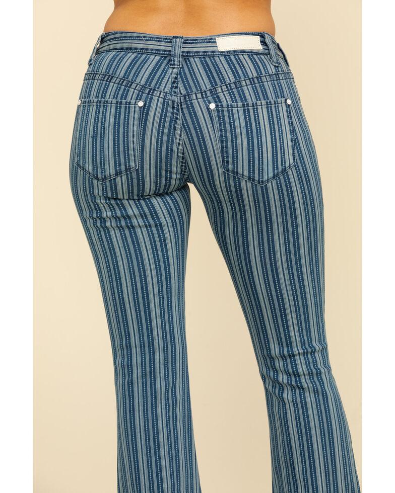 Rock & Roll Denim Women's Denim Stripe Flare Jeans, Multi, hi-res