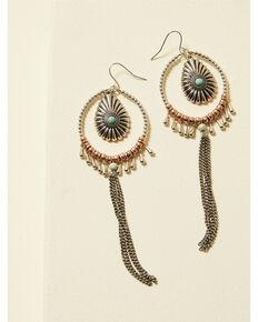 Cowgirl Confetti Women's Double Down Earrings, Silver, hi-res