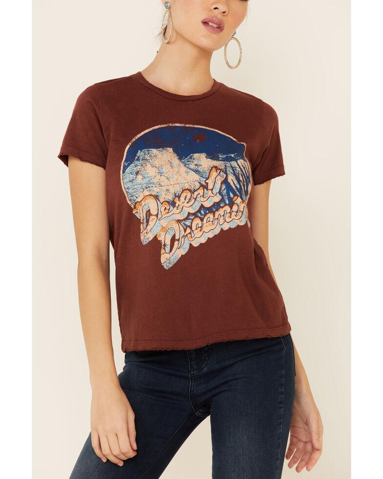 Bandit Women's Rust Desert Dreamin Graphic Short Sleeve Tee , Rust Copper, hi-res