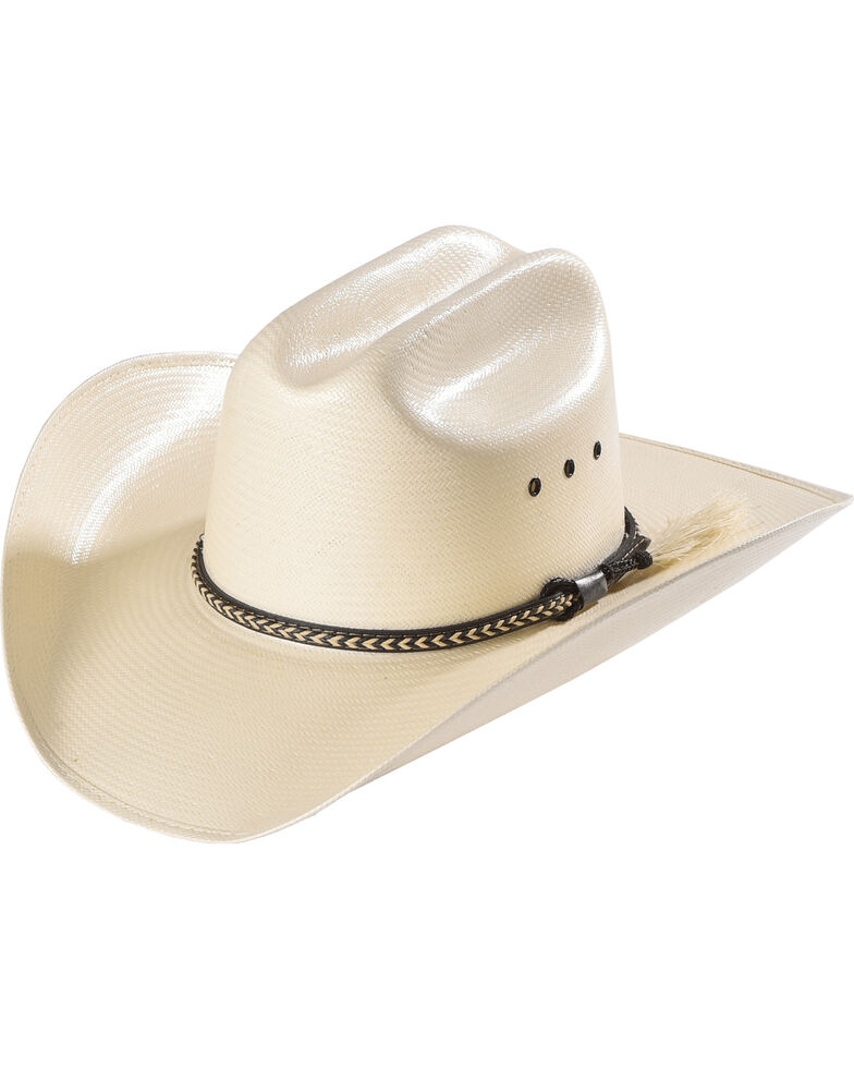 Cody James Men's Natural Straw Horsehair Band Cowboy Hat, Natural, hi-res
