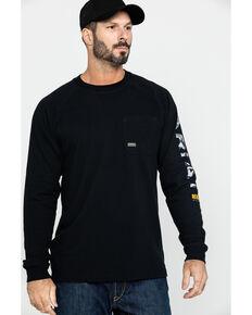 Ariat Men's Black Rebar Cotton Strong Graphic Long Sleeve Work Shirt , Black, hi-res