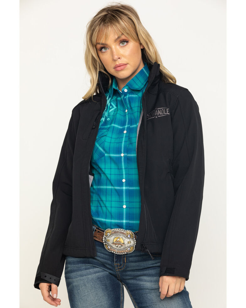 Powder River Outfitters Women's Logo Softshell Jacket , Black, hi-res