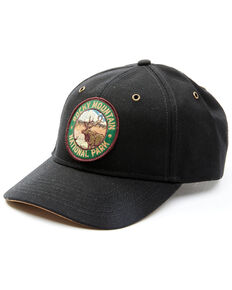 H3 Sportsgear Men's Black Rocky Mountain National Park Circle Patch Ball Cap , Black, hi-res