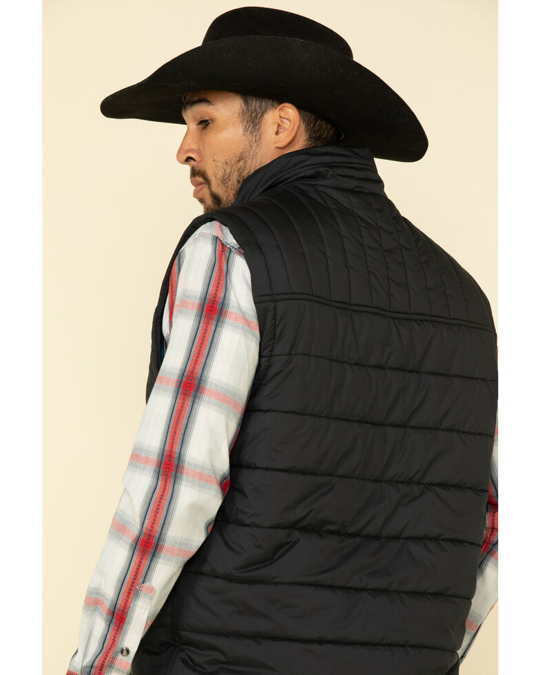 Cody James Core Men's Man Grove Quilted Puffer Vest - Big , Black, hi-res