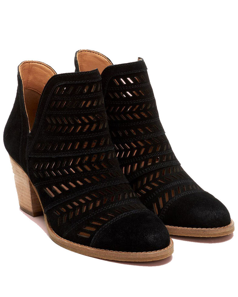 Frye Women's Allister Feather Fashion Booties - Round Toe, Black, hi-res