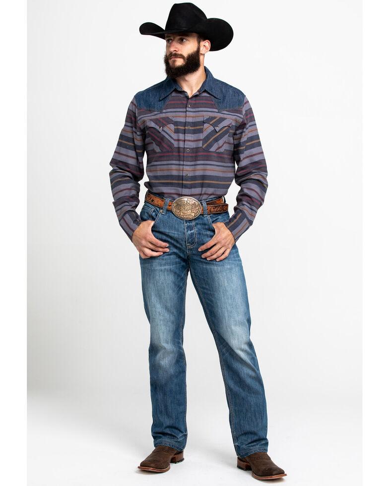 Stetson Men's Multi Rugged Ombre Stripe Long Sleeve Western Shirt , Multi, hi-res