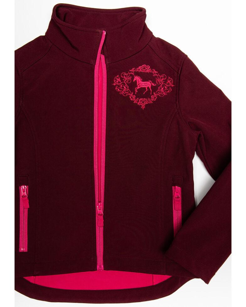 Shyanne Girls' Softshell Jacket, Burgundy, hi-res