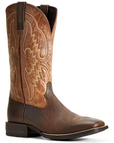 Ariat Men's Round Pen Copper Kettle Western Boots - Wide Square Toe, Brown, hi-res