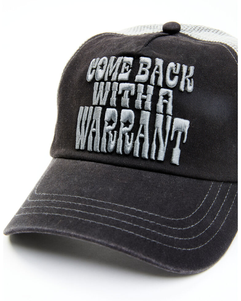 Idyllwind Women's Come Back With A Warrant Mesh-Back Ball Cap , Black, hi-res