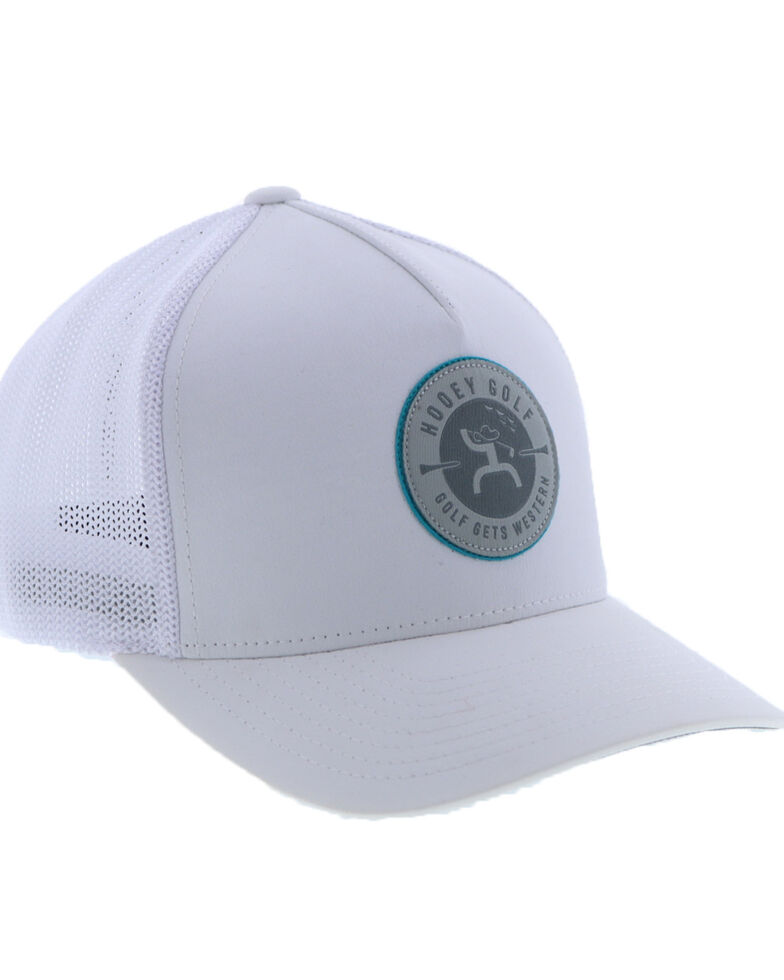 HOOey Men's White Liberty Roper Flag Patch Flex Fit Cap , White, hi-res